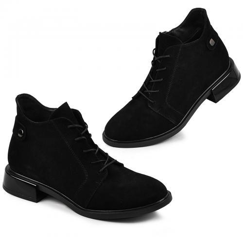 Ботинок Камелия черный замш