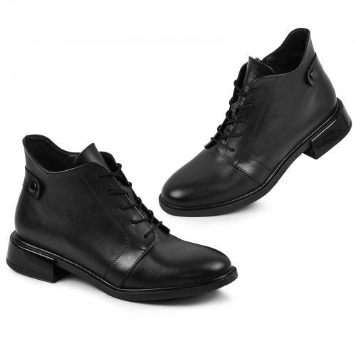 Ботинок Камелия черная кожа