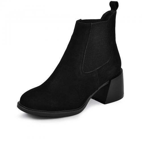 Ботинок Луиза черный замш