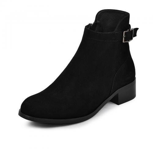 Ботинок Селин черый замш