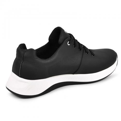 Кроссовки 16 черная кожа