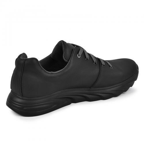 Кроссовки 17 черная кожа