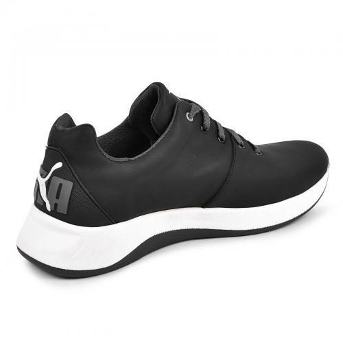 Кроссовки 15 черная/белая кожа