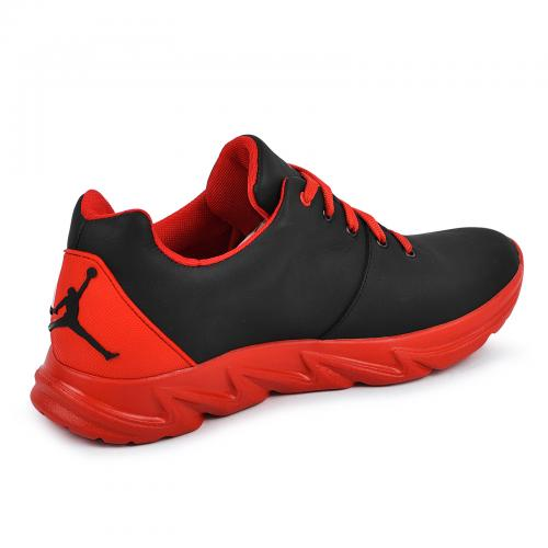 Кроссовки 12 черная/красная кожа