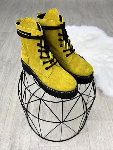 Берц желтый замш