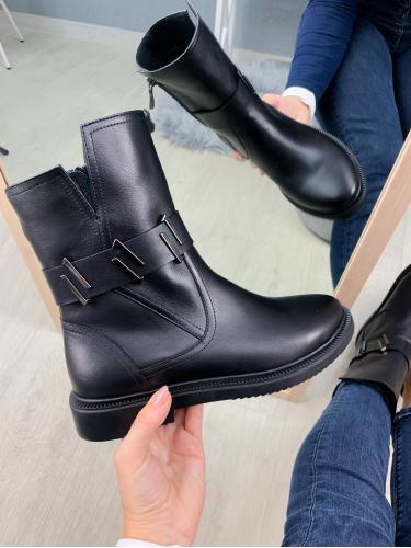 Ботинок Джейн черная кожа