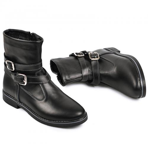 Ботинок 2 П Р черная кожа