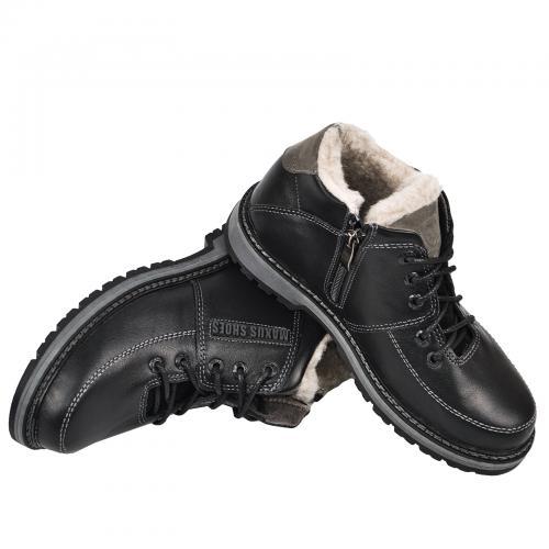Ботинок М 10 черная кожа