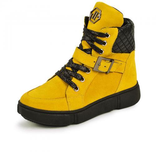 Ботинок 1901 желтый замш