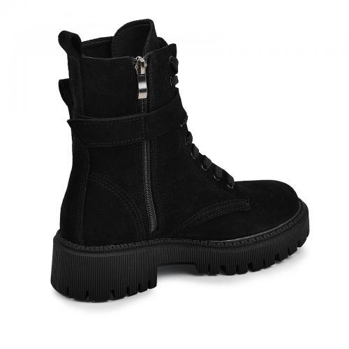 Ботинок Прадо черный замш д