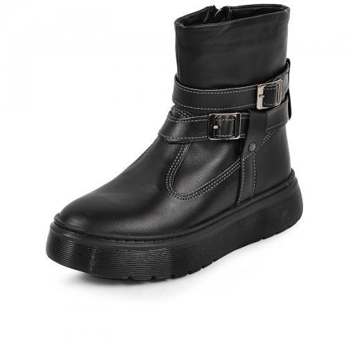 Ботинок 2 П/1 черная кожа