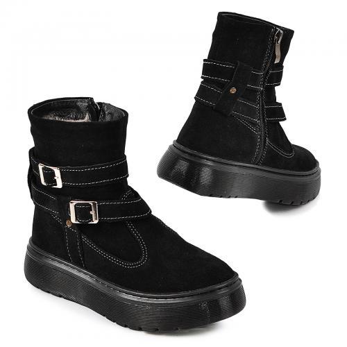 Ботинок 2 П/1 черный замш