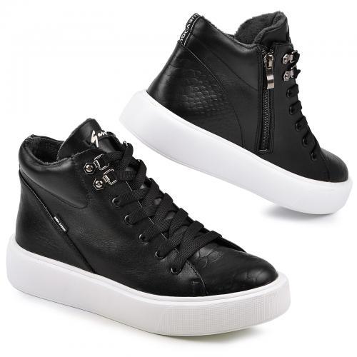 Ботинок Адель 2 черная кожа Б Д