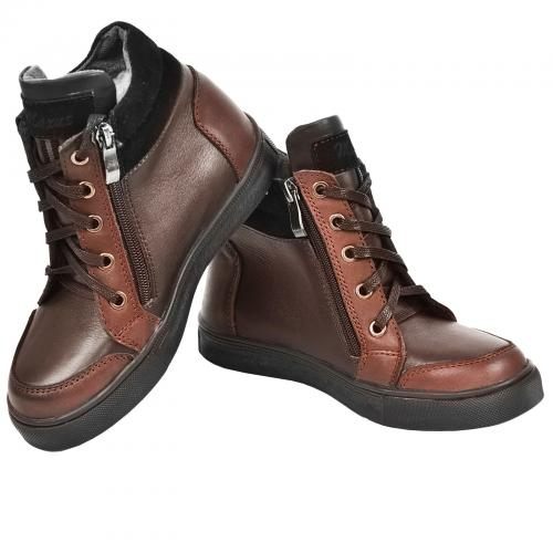 Ботинок Клок коричневая кожа