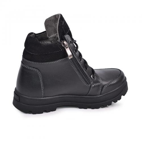 Ботинок Клок черная  кожа