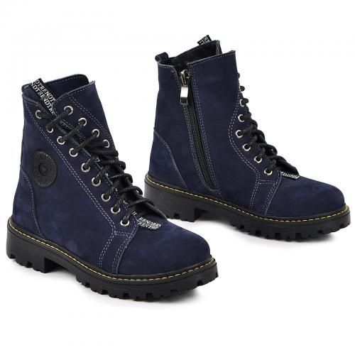 Ботинок Кенди чернильный синий нубук д