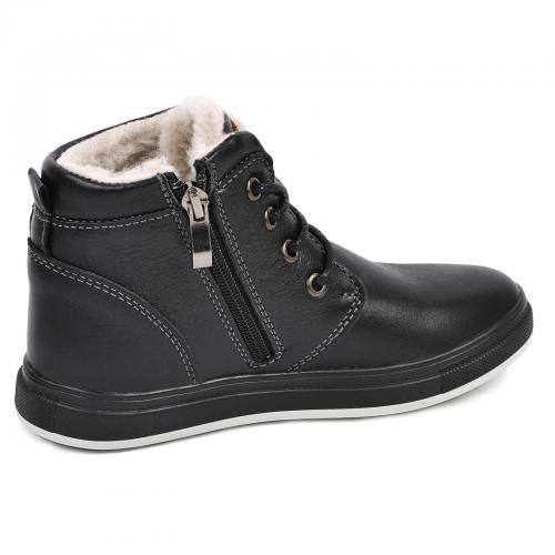 Ботинок Кид черная кожа комфорт