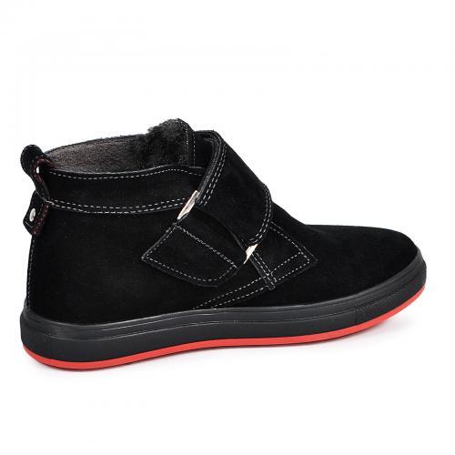 Ботинок НФ липучка черный замш комфорт