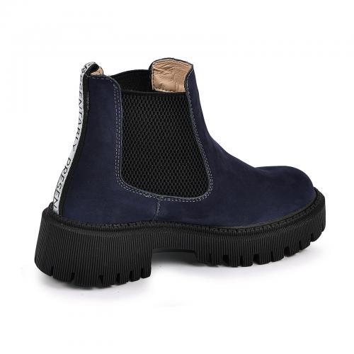 Ботинок Санта чернильный нубук д