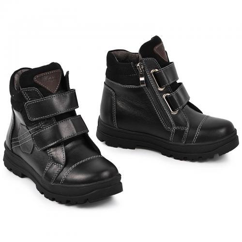 Ботинок Тайм черная кожа