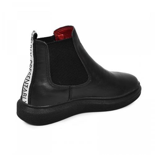 Ботинок Челси черная кожа
