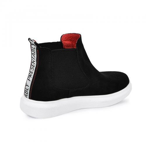 Ботинок Челси черный замш б