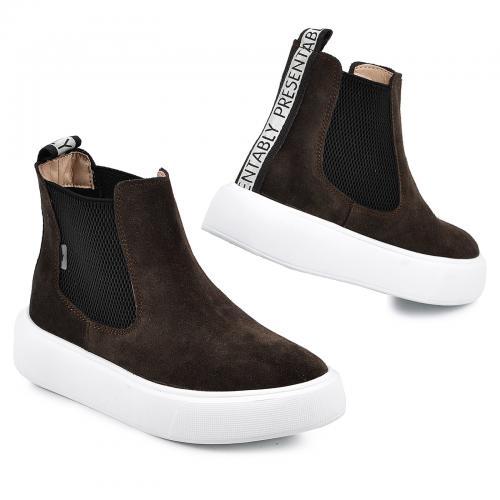 Ботинок Челси 2 коричневый замш