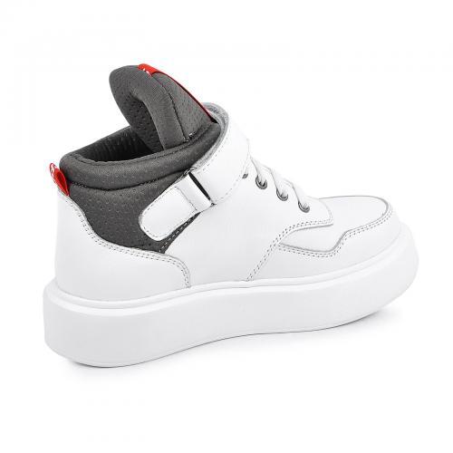 Ботинок Супра/1 белая кожа Б