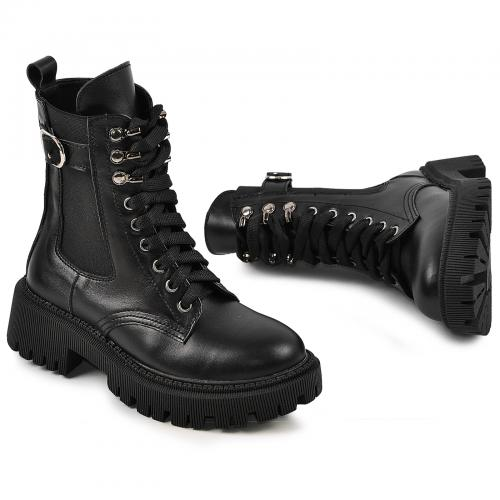 Ботинок Берта черная кожа д