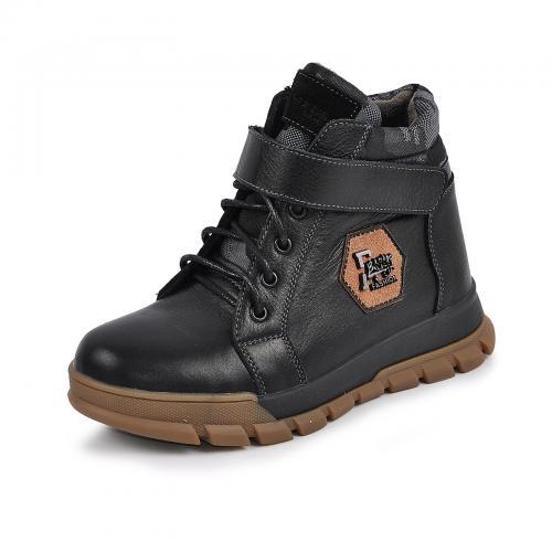 Ботинок Конверс черная кожа мил
