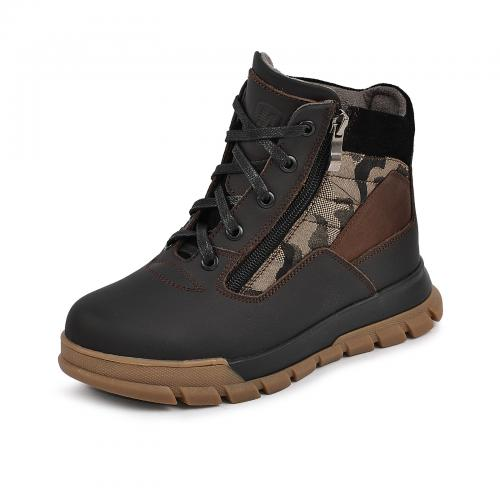 Ботинок Скипер коричневый мат милитари