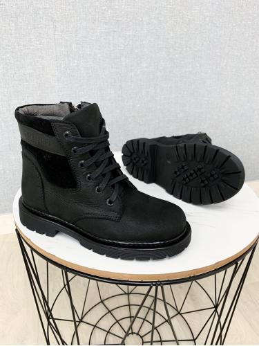 Ботинок Сноу черная кожа