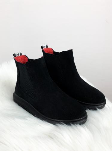 Ботинок Челси черный замш ч