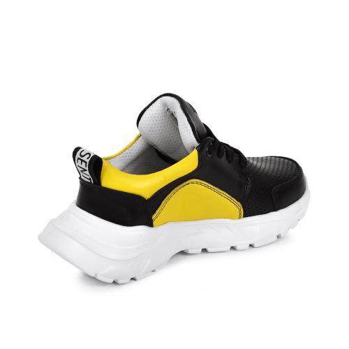 Лего 2 черно/желтая кожа перфорация
