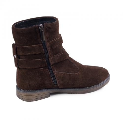 Ботинок 2 П коричневый замш
