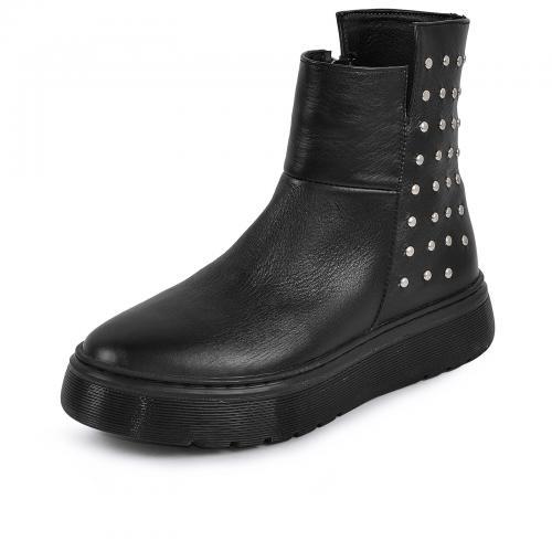 Ботинок Кэли Р черная кожа