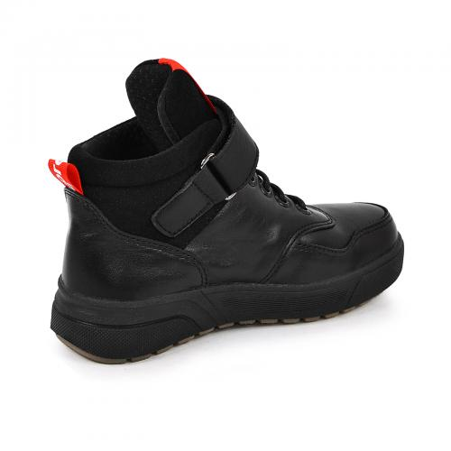 Ботинок Супра черная кожа ч п