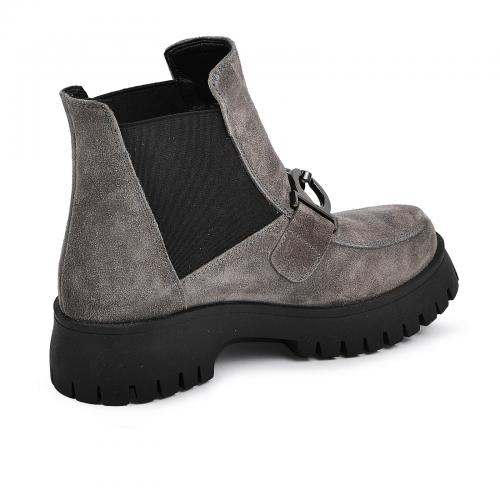Ботинок Глосс серый замш