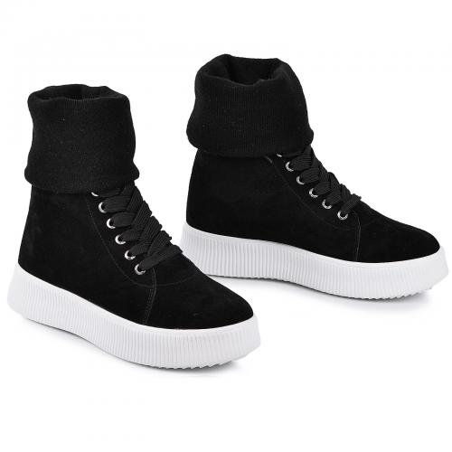Ботинок черный замш б с довязом