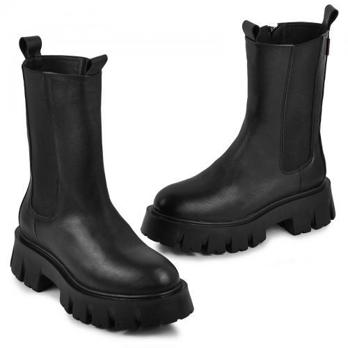 Ботинок Челси 20 черная кожа