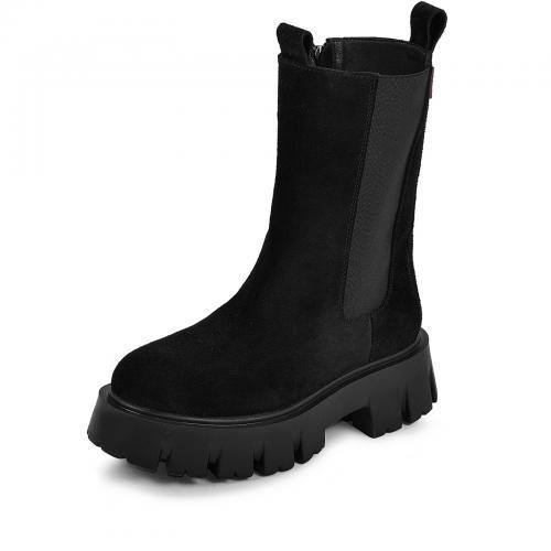 Ботинок Челси 20 черный замш