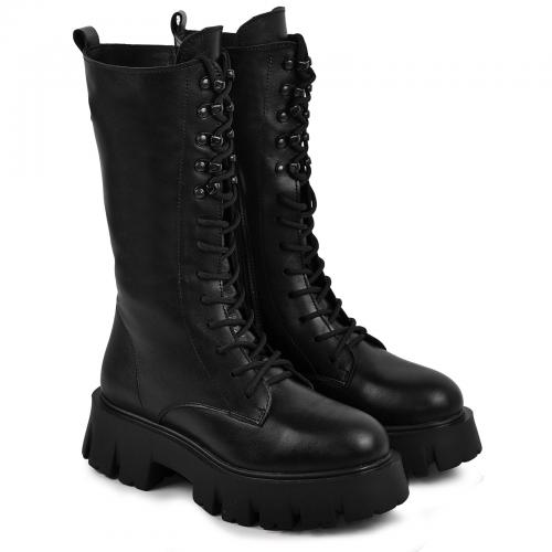 Ботинок Мили 24 черная кожа