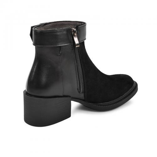 Ботинок 1975 черный замш кожа