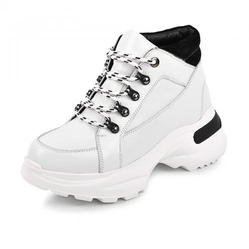 Ботинок 306 белая кожа