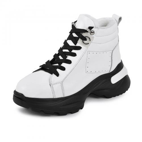 Ботинок Мидина белая кожа