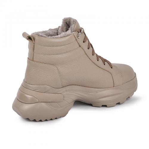 Ботинок Мидина бежевая кожа