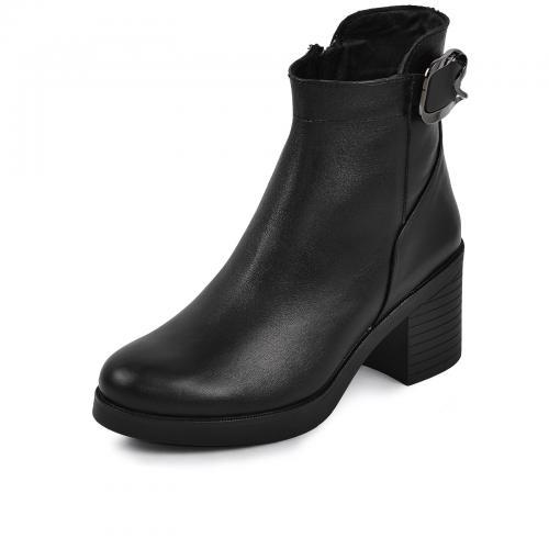 Ботинок Моника черная кожа