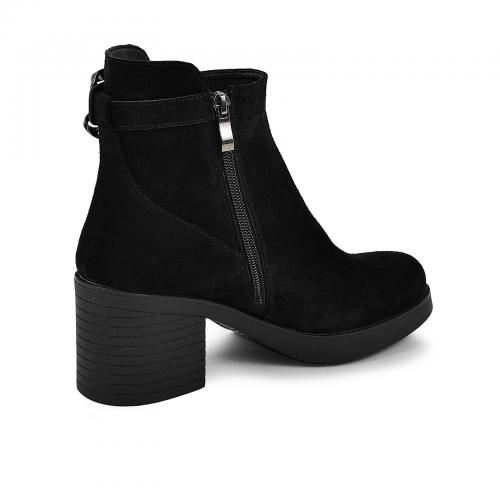 Ботинок Моника черный замш