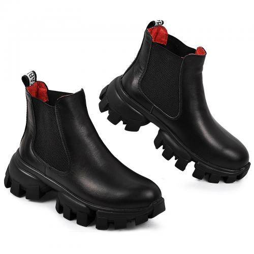 Ботинок Оникс черная кожа