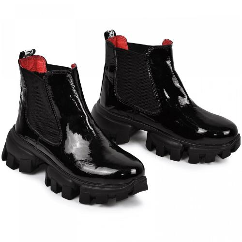 Ботинок Оникс черный лак кожа